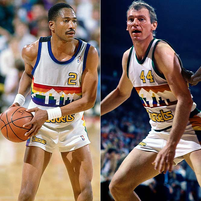 Alex English (25.4 points per game) ... 4th in league<br>Dan Issel (22.9 ppg) ... Tied for 9th in league