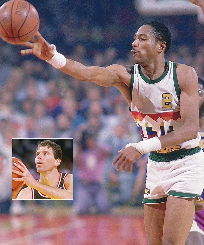 1983-84<br>Kiki Vandeweghe (29.4 points per game) ... 3rd in league<br>Alex English (26.4 ppg) ... 4th in league<br><br>1982-83<br>Alex English (28.4 ppg) ... 1st in league<br>Kiki Vandeweghe (26.7 ppg) ... 2nd in league