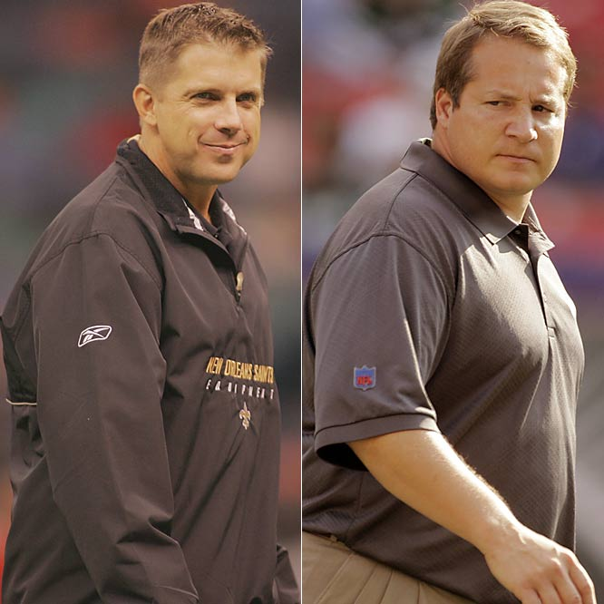 Sean Payton ran the Saints through a brutal training camp and they came out much tougher. Now, they're a real contender to reach the Super Bowl. The Jets took a risk on the 35-year-old Mangini, and it's paid off. New York was 4-12 in 2005 and is 7-6 with an outside shot at reaching the playoffs this season.