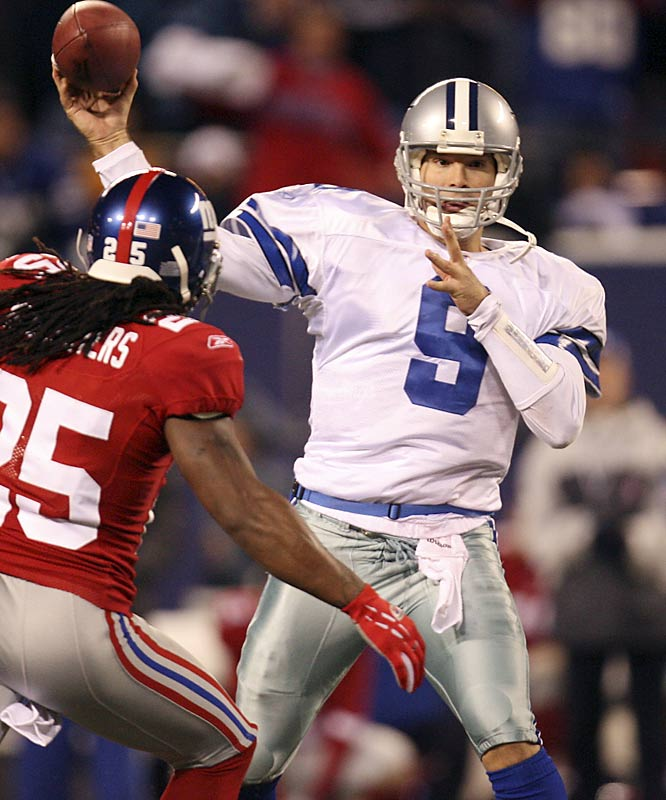 The Cowboys had no idea how soon they'd need Tony Romo to take over for Drew Bledsoe and it's doubtful they knew he'd be as good as he has been. Still, it was a good move to give him a one-year contract extension in August that locks him up through the 2007 season. He's saved their season and made everyone talk a little bit less about T.O.