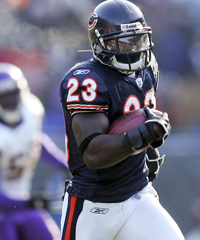 Last Week: 9<br><br>Hester leads the NFL with a 14.3-yard punt-return average and three punt returns for touchdowns. Last Sunday, his 45-yard punt return touchdown helped the Bears top the Vikings 23-13. With the offense sputtering, Hester is a life-saver in the Windy City.