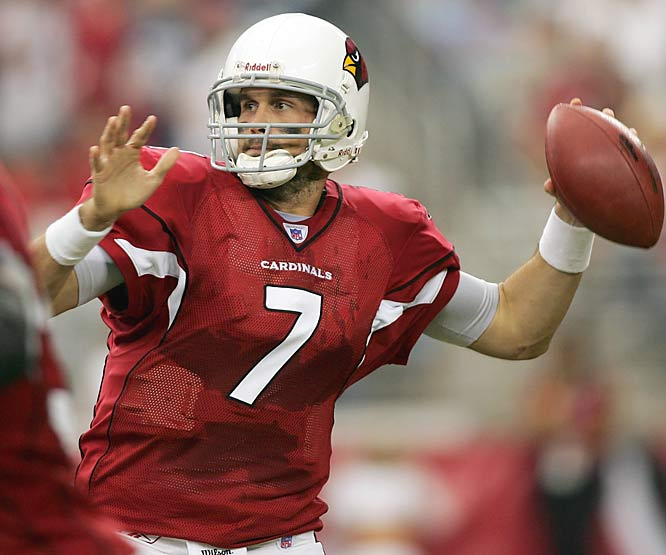 Last Week: 10<br><br>Leinart is starting to get what it takes to be a good NFL quarterback. He completed 21 of 34 passes for 232 yards, two touchdowns and one interception in the Cardinals' 27-21 win over the Seahawks. Now the big question is will his former USC coach Pete Carroll join him in Arizona next season?