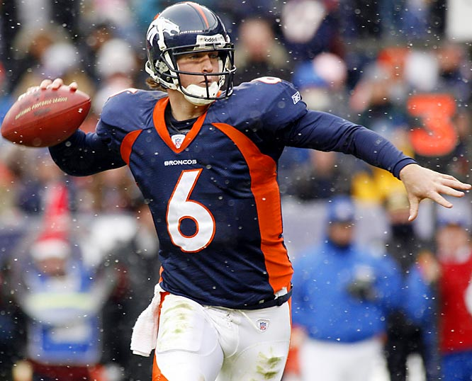 Last Week: 10 <br><br>Cutler threw two touchdowns to help the Broncos beat the Bengals 24-23, puting Denver in good position to make the playoffs. Now that Cutler has led the Broncos to two straight wins, no one questions coach Mike Shanahan's decision to pull starter Jake Plummer.