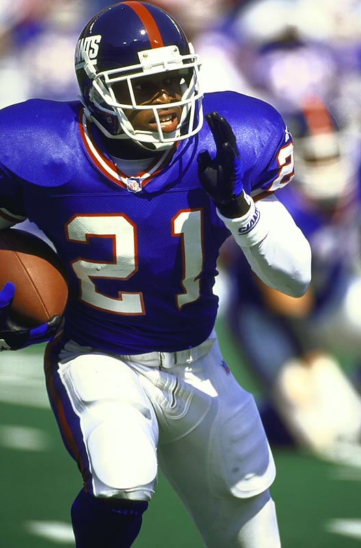 The Giants drafted Barber in the second round of the 1997 draft and immediately became a starter. Barber missed several games with a knee injury, but still rushed for 511 yards his rookie season.