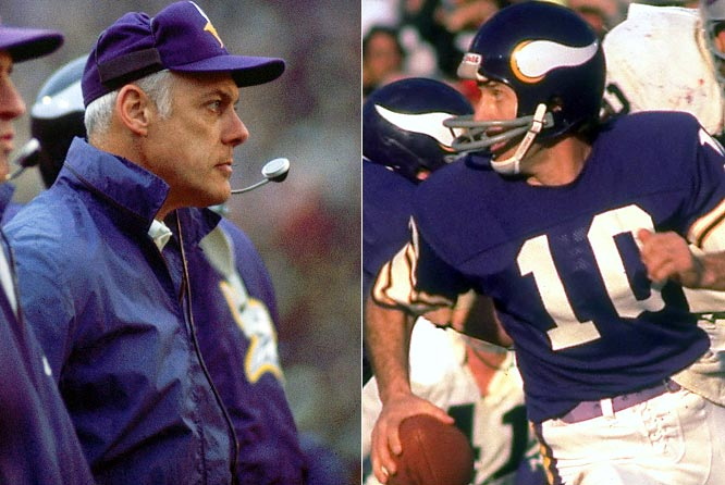 In his second stint in Minnesota (1972-78), Tarkenton played seven seasons for Grant, winning consecutive six division titles and reaching the Super Bowl three times. The Vikings lost all three of their Super Bowl appearances -- to three AFC powers, Miami, Pittsburgh and Oakland -- but Grant and Tarkenton together won 69 regular season games and seven more in the playoffs.