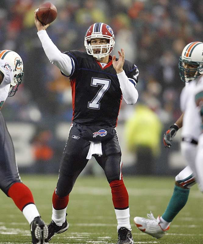J.P. Losman threw three touchdown passes, constituting the only scoring in the game as the Buffalo defense shut out Miami just one week after the Dolphins blanked the Patriots 21-0.