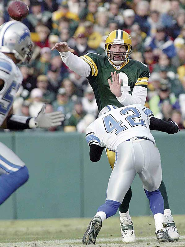 Despite throwing three interceptions, Brett Favre replaced Dan Marino as the NFL's all-time completions leader. Favre now has 4,974, six more than Marino.