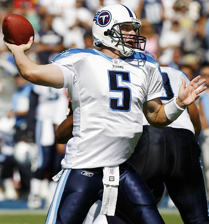 A bizarre turn of events led to the Titans signing the veteran quarterback late in training camp and they quickly inserted him into the starting lineup. They were unhappy with veteran Billy Volek and thought rookie Vince Young wasn't ready. Collins, who never appeared that interested in resuscitating his career, started the first three games of the season and threw six interceptions and just one touchdown. Tennessee started out 0-3, before winning six of its next 10 games with Young under center.