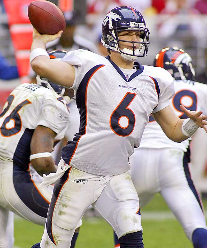 2 ... Broncos quarterback Jay Cutler threw two touchdown passes against Arizona Sunday, giving him two touchdowns in each of his first three starts. He's the first quarterback in 23 years with two or more TDs in each of his first three starts. In 1983, Dan Marino had three against the Bills, three against the Jets and two against the Colts in his first three starts. The only other QB in NFL history to begin his career with two or more TDs in his first three starts was Charlie Conerly of the Giants, who had two against the Boston Yankees, four against the Chicago Cards and two against the Steelers in 1948.