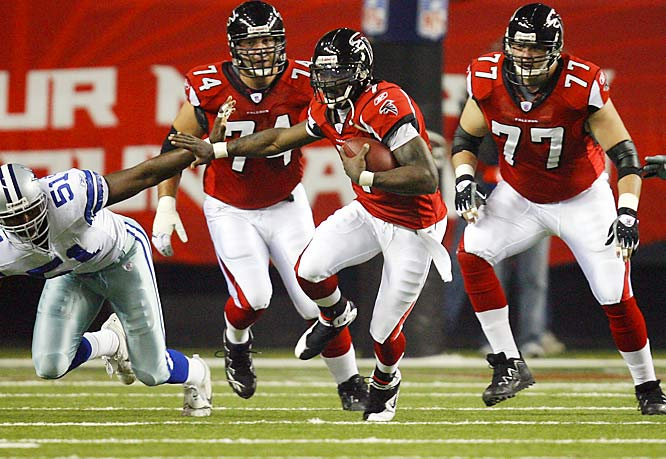 173 ... Michael Vick is five yards shy of becoming the first quarterback in NFL history to rush for 1,000 yards. And with only 116 carries, he'll become the first player in 72 years to rush for 1,000 yards on fewer than 173 carries. The only player in history to rush for 1,000 yards on fewer than 173 carries was Bears rookie Beattie Feathers, who was 119-for-1,004 in 1934. Since then, the mark for fewest carries for a 1,000-yard rusher belongs to Joe Perry of the 49ers, who in 1954 was 173-for-1,049.