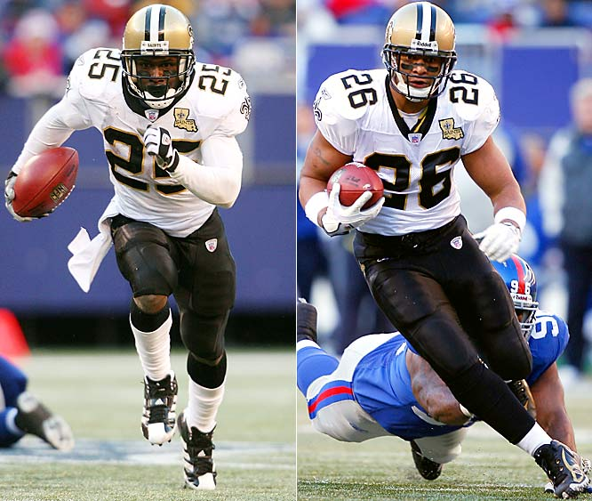 28 ... In their loss to the Saints, the Giants allowed both Reggie Bush and Deuce McAllister to rush for at least 100 rushing yards, the first time two running backs have rushed for 100 yards or more against the Giants in the same game in 28 years. The last time it happened was Dec. 17, 1978, when Wilbert Montgomery (130) and Mike Hogan (100) both did it for the Eagles.