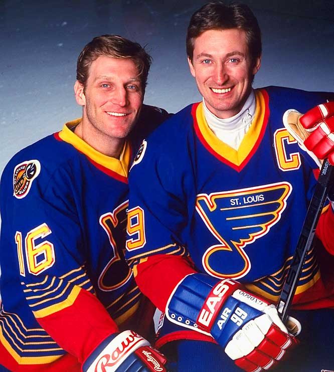 One of the NHL's most anticipated, but short-lived scoring duos was created on Feb. 27, 1996, when Wayne Gretzky was traded to St. Louis by the L.A. Kings. Gretzky would sign with the New York Rangers after the season.