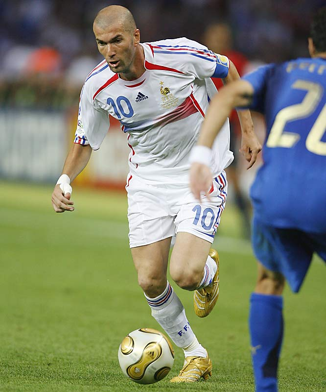 It's unfortunate that many will cite Zidane's head-butt in the final match of the 2006 World Cup as one of the most memorable moments of his career, because the three-time World Footballer of the Year deserves better. One of the greatest soccer players ever, Zidane led France to the 1998 World Cup title and the 2000 European Championship, dazzling millions with his fundamentals and artistry on the pitch.