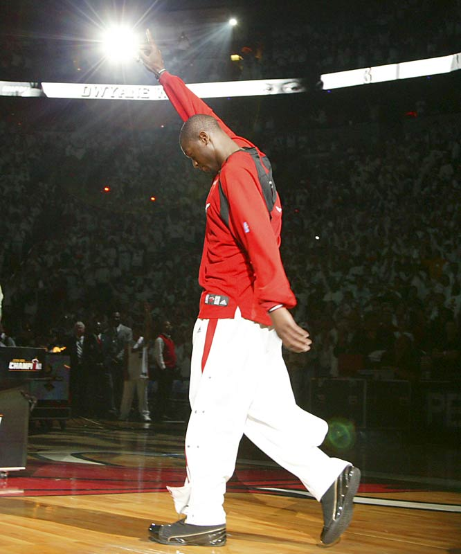 Wade scored 42, 36 and 43 points, respectively, in Games 3, 4 and 5 to help turn the tide against Dallas in the championship series.