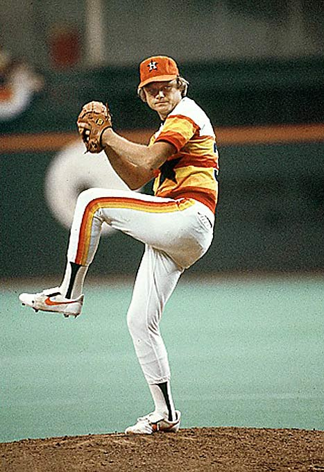 While everyone had grown tired of the Astros' rainbow garb by the `80s, they're now popular again among the retro-uniform aficionados.