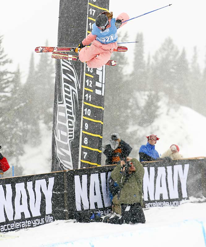 Grete Eliassen, 19, had the highest airs during the superpipe, with huge 500's and two 700's.
