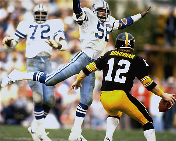 """(On Steelers QB Terry Bradshaw)<br>""""I didn't say he couldn't play, just that he couldn't spell."""""""