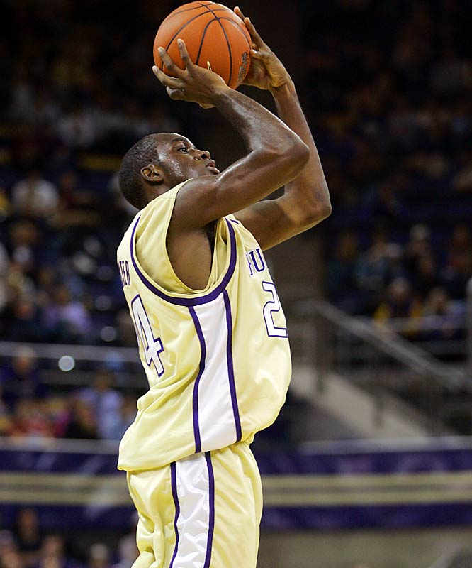 "12.9 ppg, 4.6 rpg, 50.3 FG%<br><br> The son of former Long Beach State star Roscoe Pondexter has already had four 20-point games in his first season with the Huskies. ""Q"" could emerge as one of the Pac-10's biggest stars as a sophomore, especially if teammate Spencer Hawes opts to turn pro."