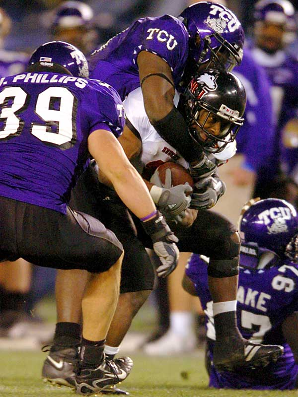 TCU completely shut down Garrett Wolfe, holding the nation's leading rusher to 28 yards.