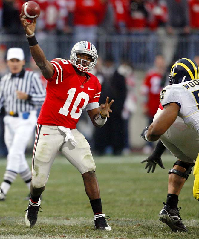 In the most anticipated game of the new millennium, Troy Smith burns Michigan for a third straight year. Smith basically clinches the Heisman Trophy by throwing for 316 yards and four touchdowns.