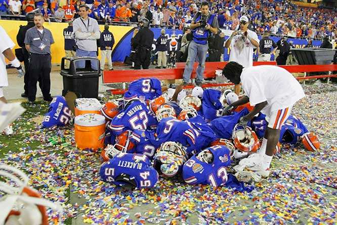 When you win a national title, you're allowed to make a mess.