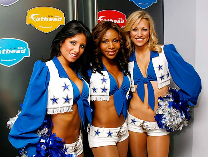 Three of the Dallas Cowboys' finest cheerleaders hosted a cocktail reception to celebrate the 2007 NFL Postseason -- as if NFL fans needed more reasons to get excited for the playoffs.