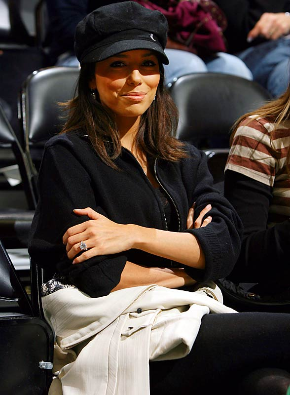 Eva Longoria, who watched fiance Tony Parker play in Minnesota earlier this week, sports a ring almost as big as Shaq's.