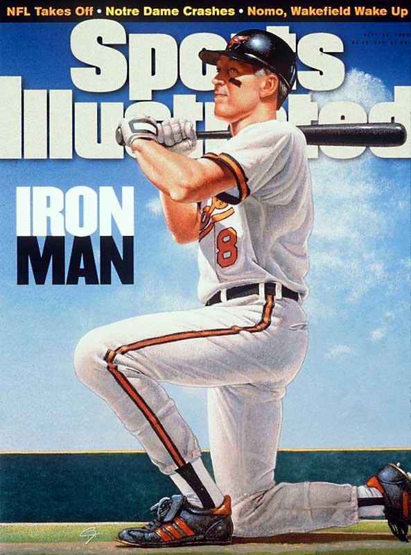 An illustration of Ripken graced the cover of SI after he surpassed Gehrig's record.