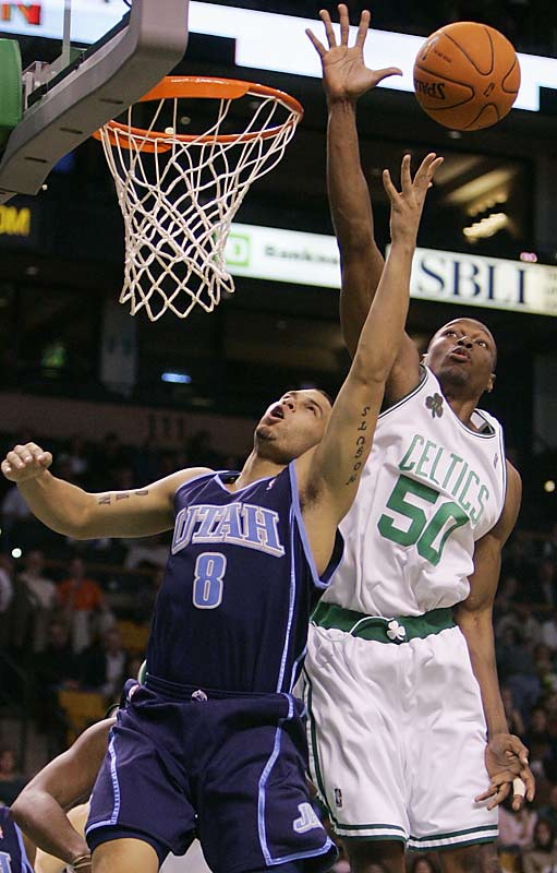 Ratliff has led the league in blocks twice and averaged at least three a game in seven of his 12 seasons. He appeared in only two games with the Celtics in 2006-07 before undergoing season-ending back surgery. He is fourth among active players in blocks, trailing Dikembe Mutombo, Shaquille O'Neal and Alonzo Mourning.