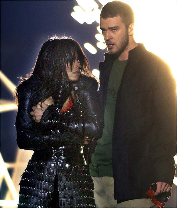 The mother of all Super Bowl scandals occurred at halftime when singer Janet Jackson's wardrobe malfunctioned (with a little help from Justin Timberlake) and briefly exposed her right breast to a worldwide TV audience. The fallout was swift, massive, and terrible. The FCC launched a crackdown on TV and radio raunchiness, and the NFL is still in a prevent defense against sleaze.