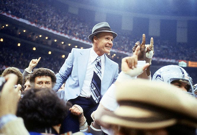 The Cowboys chose Landry when the franchise began in 1960 and he remained on the Dallas sidelines for 29 years. Landry had a streak of 20 straight winning seasons and led the Cowboys to two Super Bowls.