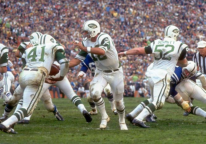 A harmless, dinner-banquet guarantee -- that's all it took for pro football to be forever changed at Super Bowl III. Backed by brash Joe Namath, the Jets toppled the heavily favored Colts, giving immediate credibility to the American Football League.