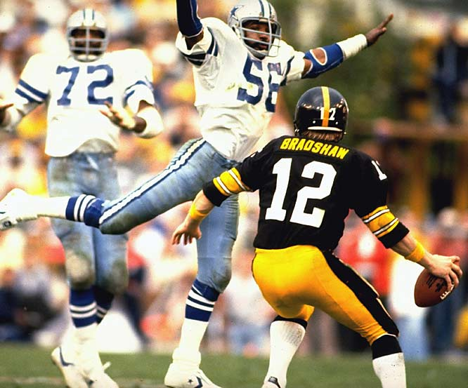 This one had it all: Big plays from big stars, scoring binges, controversial penalties (Benny Barnes' game-changing interference call against Dallas) and a signature moment in Cowboys TE Jackie Smith's infamous drop in the end zone. Terry Bradshaw (318 passing yards, 4 TDs) garnered MVP honors after leading the Steelers to their fourth title in six seasons.