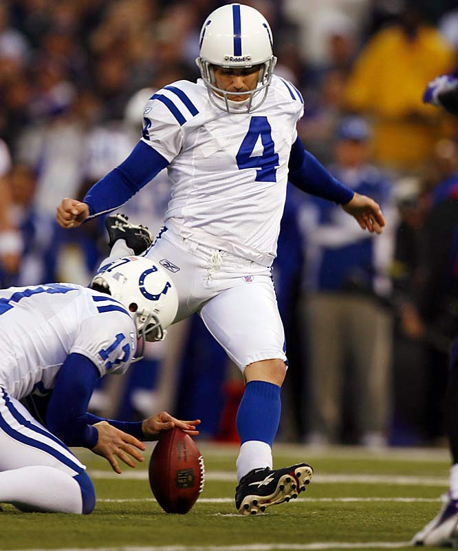 5 ... Adam Vinatieri's five field goals against the Ravens tied the NFL postseason record shared by seven players for most field goals in a postseason game.