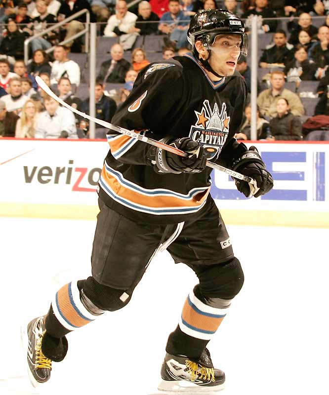 The electrifying 2005-06 Calder Trophy-winner leads the NHL in goals and ranks second behind Sidney Crosby in the scoring race.