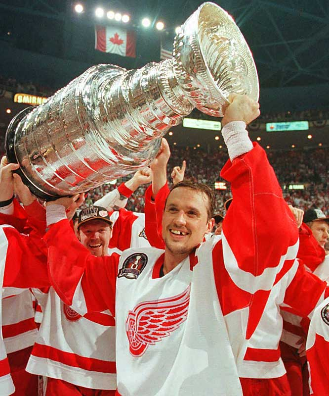 Despite a missing tooth, Yzerman was all smiles as he celebrated the Stanley Cup's return to Detroit after 42 years.