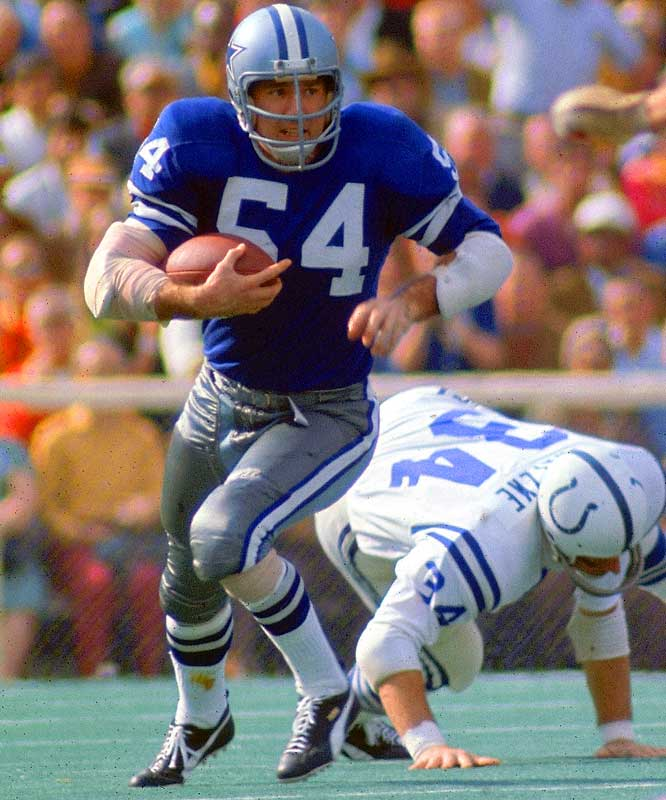 Howley, a six-time Pro Bowl player, was the first guy on a losing team to win Super Bowl MVP when he had two interceptions and a fumble recovery in Super Bowl V, the Cowboys' 16-13 loss to the Colts. He also had an interception in Super Bowl VI, which Dallas won.