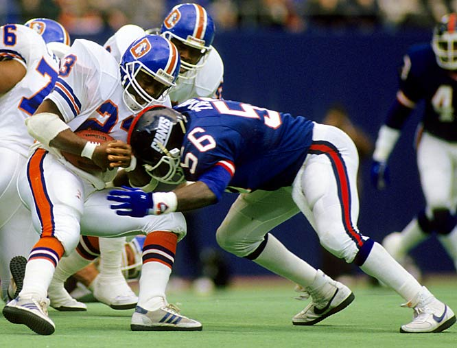 Taylor, the most disruptive player of his era, led a defense that held two potent offenses -- Denver and Buffalo -- in check to help the Giants capture Super Bowls XXI and XXV.