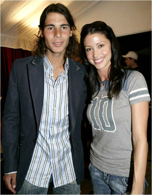 Rafael Nadal shouldn't be upset if he can't get past Roger Federer at the Australian Open. He got to hang with Shannon Elizabeth at an Australian Open Tennis Pre-Party.