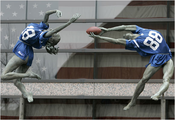 Can the Colts sign these two statues in time for Sunday's AFC Championship game against New England?