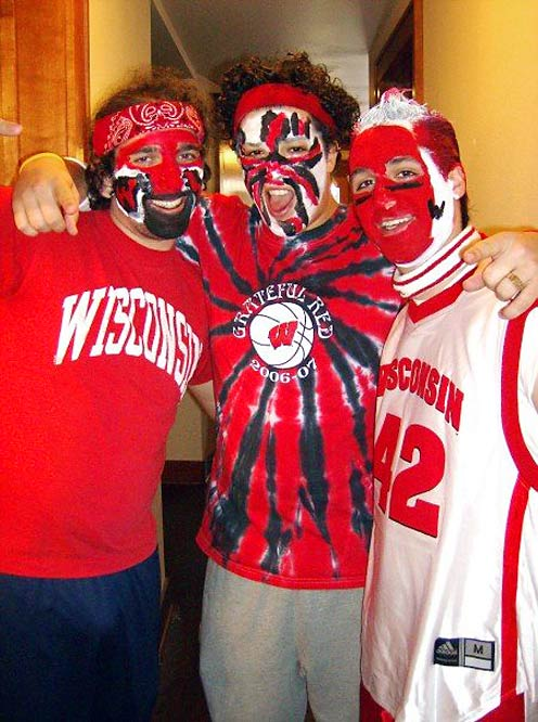 As this photo demonstrates, Badger fans own facepaint and aren't afraid to use it.