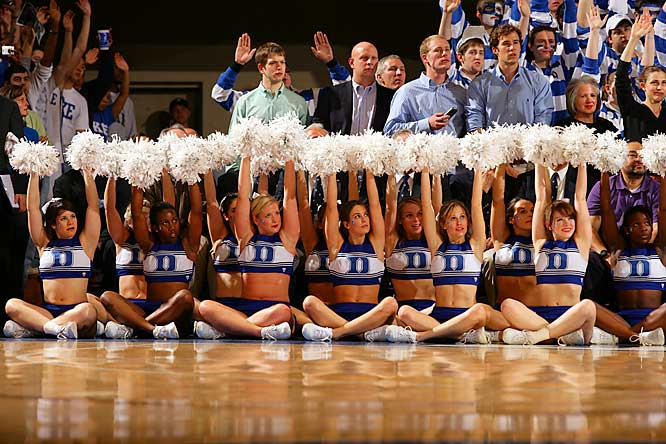 The support of Duke's cheerleaders wasn't enough to help the Blue Devils beat its ACC rival, UNC.