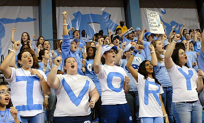 North Carolina fans show a Latta love for their favorite Tar Heel during Thursday's 64-55 loss to Duke.