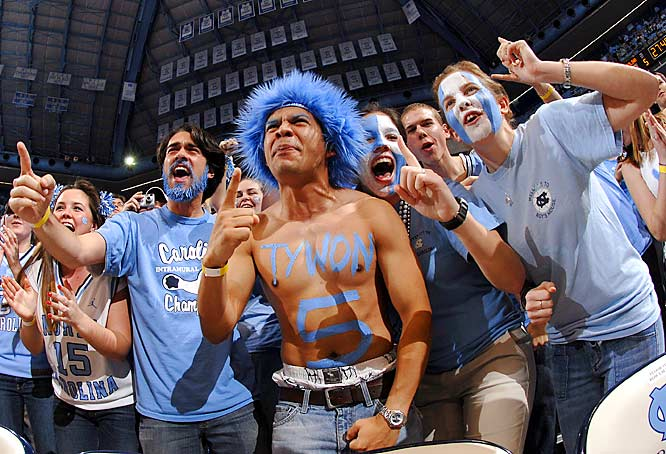 These UNC fans must've missed the memo that Ohio State is the new No. 1. However, the Tar Heels had reason to smile after defeating NC State, 83-64, last Wednesday.