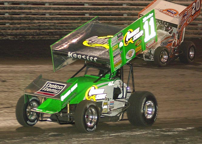 "The undisputed ""King"" of dirt racing, Steve Kinser has won 20 World of Outlaws titles. No driver in any form of American auto racing has dominated his type of racing like Kinser has sprint cars."