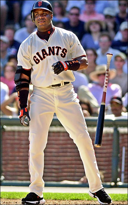 Shattering his previous career high of 49 home runs, Bonds broke Mark McGwire's three-year-old record for most homers in a single season: 73.