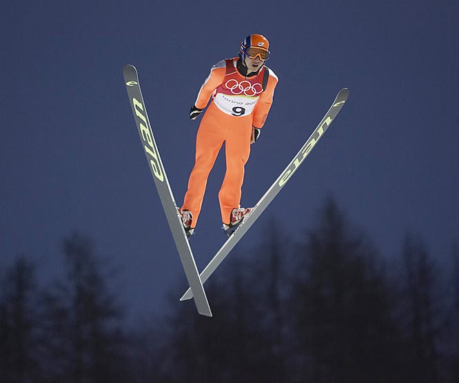 "Klutho's take:<br><br>""This was right at dusk. I was down the hill a little. They had night ski-jumping. You still see some of the daylight, yet the lights fill it in and make it look almost like a studio shot.""<br><br> Shot with a Canon EOS-1D Mark II N"