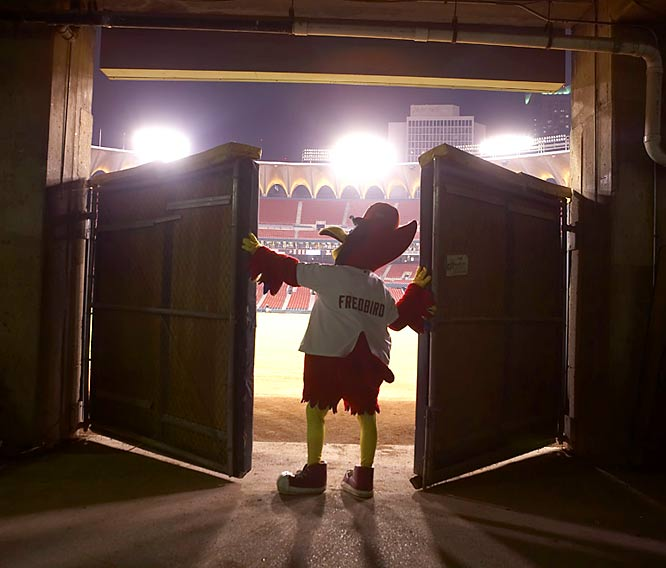 "Klutho's take:<br><br>""This was at the end of Busch Stadium's 40th year. Nearly everyone had left the stadium, and Fred Bird was closing the gate in the outfield. All of those baseball memories. It's a shot that embodies the spirit of St. Louis baseball.""<br><br> Shot with a Canon EOS-1DS Mark II"