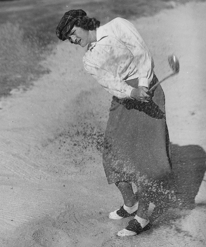 This Babe was as dominant in her sports as the other Babe was in his. In 1932 Babe Didrikson Zaharias won the AAU team track and field championships, finishing first in five of the eight events she entered. The following year she won a pair of gold medals at the 1932 Olympics, including setting world records in both the javelin and the 80-meter hurdles. She also took silver in the high jump. She later switched to golf where she had 35 career victories -- 10 of them majors, including three U.S. Opens (1948, '50 and '54). She won an unprecedented 17 consecutive tournament titles from April 1946 to August '47 and was one of the founding members of the LPGA in 1950.