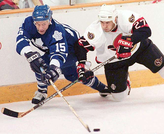 The Sens lost 38 in a row on the road during their inaugural season (1992-93).